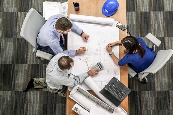 Planungsphase mit dem Industriekunden